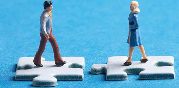 Puzzle Mann und Frau